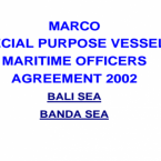 MARCO  SPECIAL PURPOSE VESSELS  MARITIME...