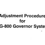Adjustment Procedure for MG-800 Governor...